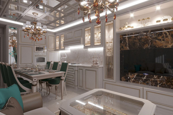 Four-room apartment Design in Moscow 01