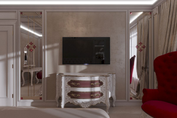 Four-room apartment Design in Moscow 011