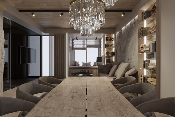 Two-storey Apartment Design in the center of Moscow 06