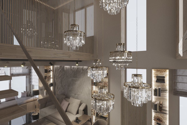 Two-storey Apartment Design in the center of Moscow 01