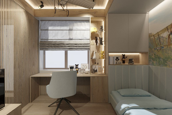 Two-storey Apartment Design in the center of Moscow 043