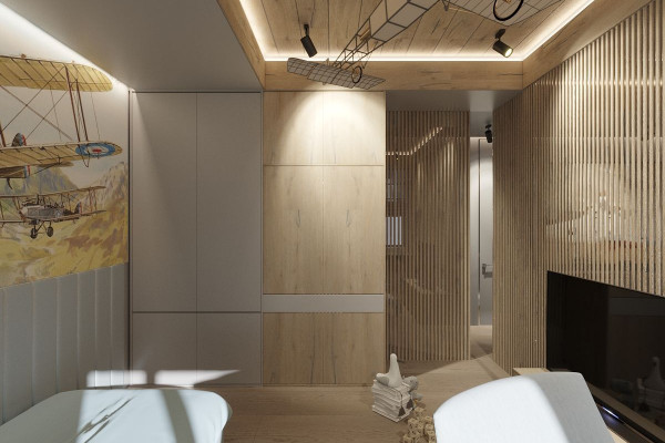 Two-storey Apartment Design in the center of Moscow 045