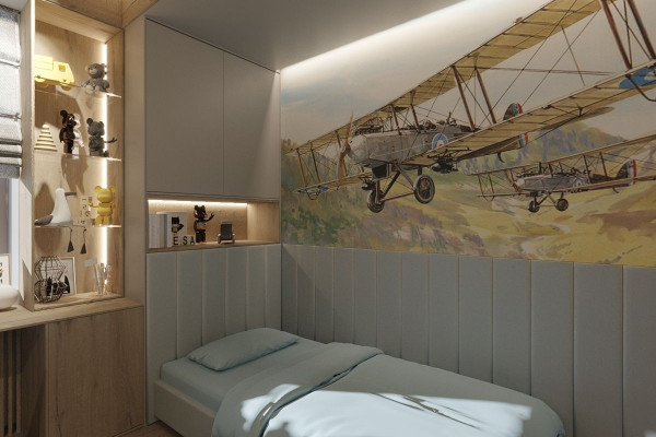 Two-storey Apartment Design in the center of Moscow 041