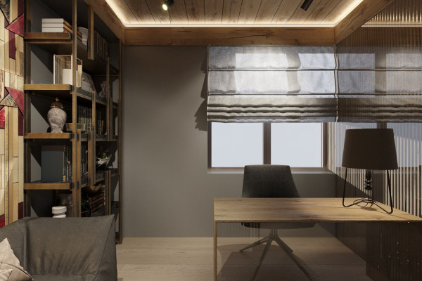 Two-storey Apartment Design in the center of Moscow 036