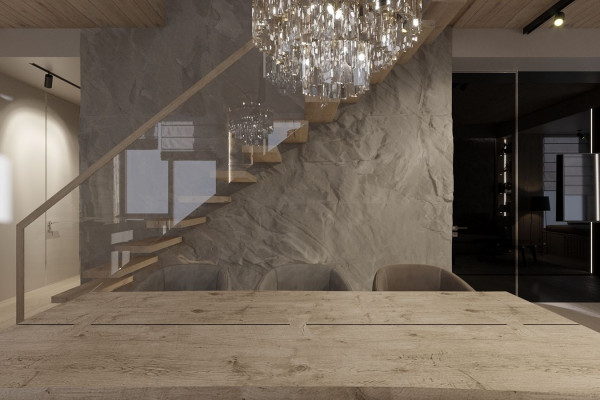 Two-storey Apartment Design in the center of Moscow 03