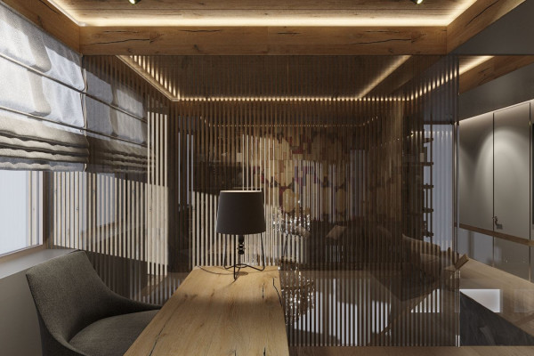 Two-storey Apartment Design in the center of Moscow 034