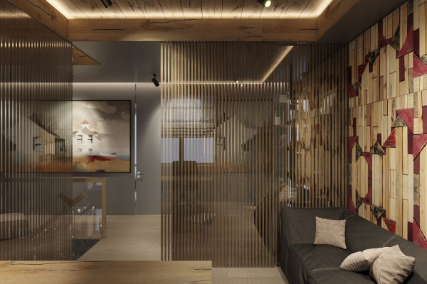 Two-storey Apartment Design in the center of Moscow 035