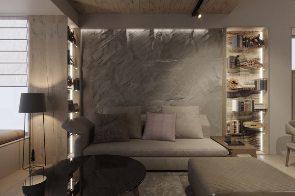 Two-storey Apartment Design in the center of Moscow 08