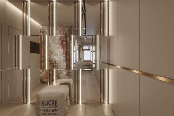 Two-storey Apartment Design in the center of Moscow 038