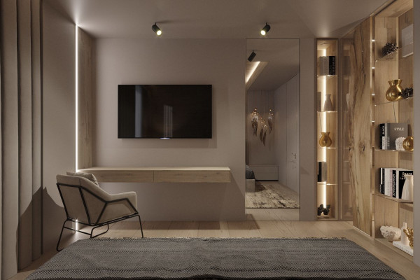 Two-storey Apartment Design in the center of Moscow 013