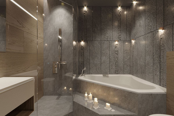 Two-storey Apartment Design in the center of Moscow 029