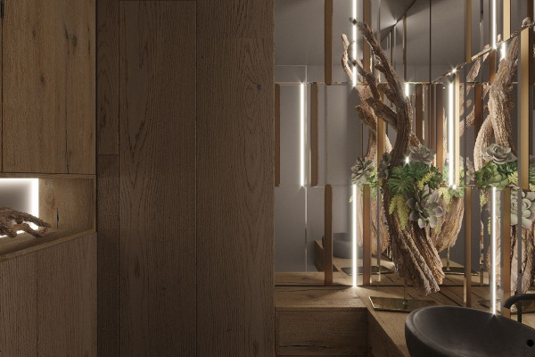 Two-storey Apartment Design in the center of Moscow 049