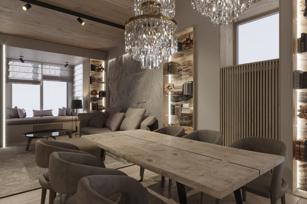 Two-storey Apartment Design in the center of Moscow 02