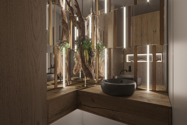 Two-storey Apartment Design in the center of Moscow 047