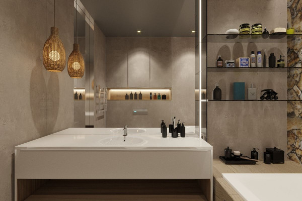 Two-storey Apartment Design in the center of Moscow 021