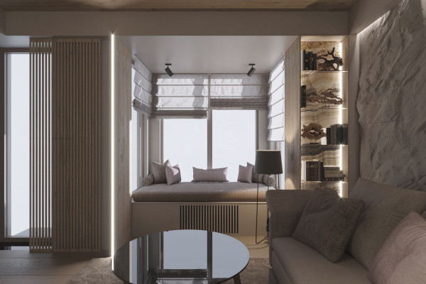 Two-storey Apartment Design in the center of Moscow 07