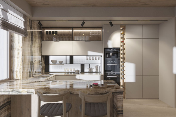 Two-storey Apartment Design in the center of Moscow 09